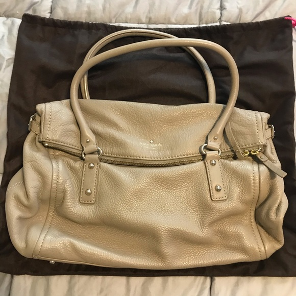 Kate Spade, leather satchel, gently used